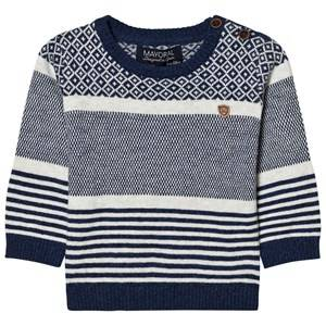 Mayoral Boys Jumpers and knitwear Navy Navy Jacquard Patterned Jumper
