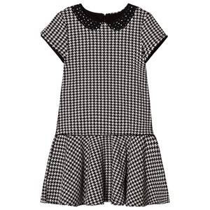 Mayoral Girls Dresses Black Black and White Houndstooth Dress