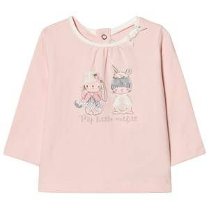 Mayoral Girls Tops Pink Pink Bunny Print Tee