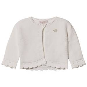 Mayoral Girls Jumpers and knitwear Cream Off White Knitted Cardigan