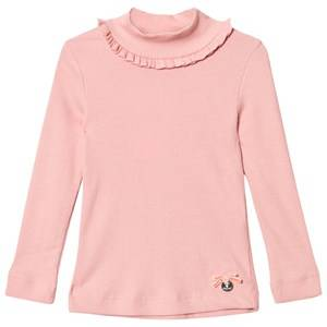 Mayoral Girls Tops Pink Bubblegum Ribbed Long Sleeve Tee with Mock Turtleneck