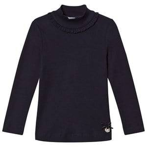 Mayoral Girls Tops Navy Eclipse Ribbed Long Sleeve Tee with Mock Turtleneck