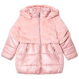 Mayoral Girls Coats and jackets Purple Pink Faux Fur and Padded Coat