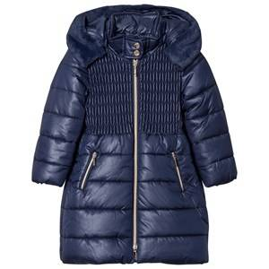 Mayoral Girls Coats and jackets Navy Navy Long Line Hooded Puffer Coat