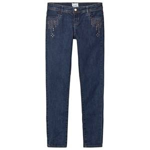Mayoral Girls Bottoms Navy Navy Stud Detail Jeans