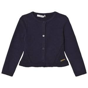 Mayoral Girls Jumpers and knitwear Navy Navy Knitted Cardigan with Frill Hem