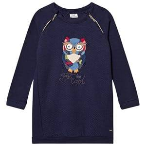 Mayoral Girls Dresses Navy Navy Owl Embroidered Sweat Dress