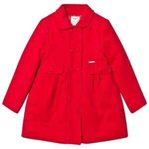 Mayoral Girls Coats and jackets Red Red Faux Mouflon Coat