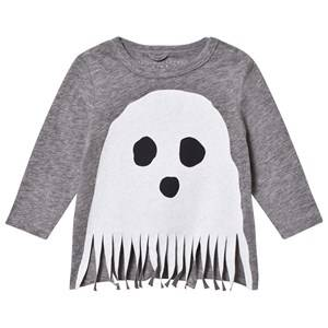Stella McCartney Kids Unisex Tops Grey Grey Ghost Fringe Georgie Tee