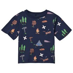 Stella McCartney Kids Boys Tops Navy Navy Explorer Arrow Tee
