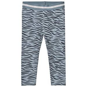 Stella McCartney Kids Girls Bottoms Grey Blue Tiger Print Tula Leggings