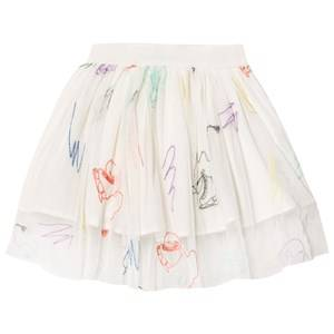 Stella McCartney Kids Girls Skirts White White Embroidered Skates Darci Tulle Skirt