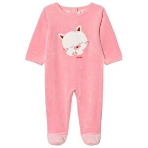 Absorba Girls All in ones Pink Bright Pink Cat Footed Baby Body