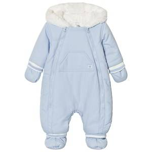 Absorba Boys Coveralls Blue Pale Blue Fleece Lined coverall