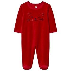 Absorba Unisex All in ones Red Red Cat Face Footed Baby Body
