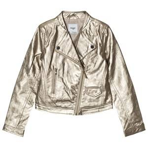 Mayoral Girls Coats and jackets Gold Champagne Pleather Biker Jacket