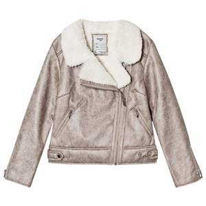 Mayoral Girls Coats and jackets Gold Gold Faux Shearling Biker Jacket