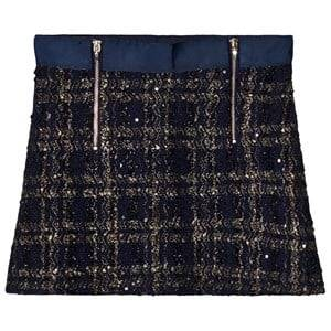 Mayoral Girls Skirts Navy Navy Tweed Zip Skirt