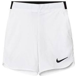 NIKE Boys Shorts White White Flex Ace Tennis Shorts