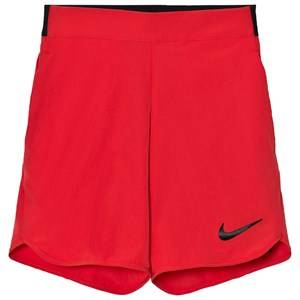 NIKE Boys Shorts Red Red Flex Ace Tennis Shorts