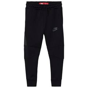 NIKE Boys Fleeces Black Tech Fleece Pants Black