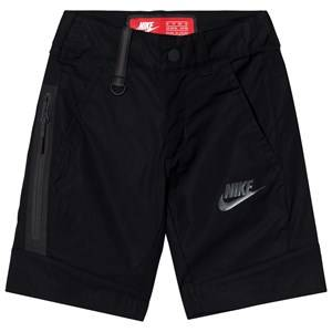 NIKE Boys Shorts Black Woven Tech Shorts Black