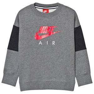 NIKE Boys Tops Grey Nike Air Crew Sweater Gray