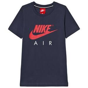 NIKE Boys Tops Navy Nike Air Short Sleeve Tee Thunder Blue