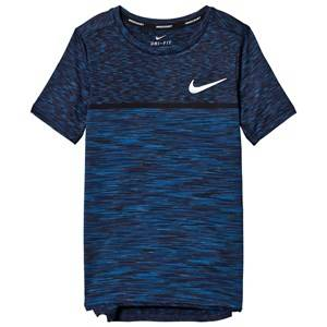 NIKE Boys Tops Navy Blue Dry Challenger Tennis Tee
