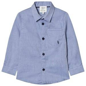 Carrément Beau Boys Tops Blue Blue Oxford Shirt