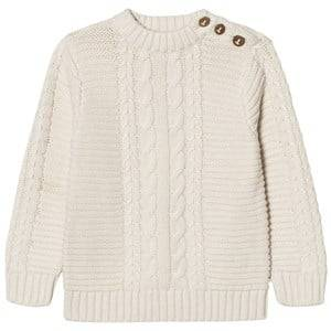 Carrément Beau Boys Jumpers and knitwear Cream Cream Cable Rib Knit Jumper