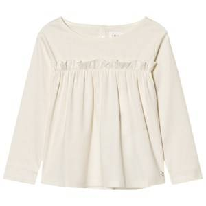 Carrément Beau Girls Tops Cream Gathered Front Tee Cream
