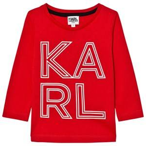Karl Lagerfeld Kids Boys Tops Red Red Karl Print Long Sleeve Tee