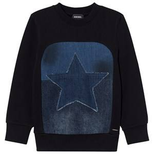 Diesel Boys Jumpers and knitwear Black Black Star Graphic Knit Sweater