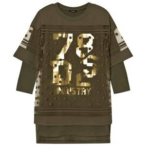 Diesel Girls Dresses Green Green 78 GS Logo Knit Dress