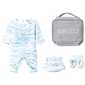 Kenzo Boys Clothing sets Blue Blue Tiger Baby Body, Hat and Booties Gift Set