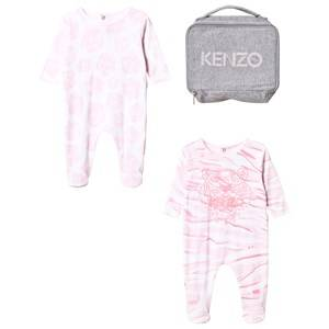 Kenzo Girls All in ones Pink 2 Pack Footed Baby Body Tiger Pink