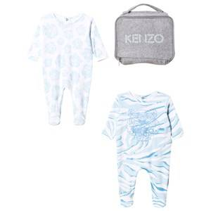 Kenzo Boys All in ones Blue 2 Pack Footed Baby Body Tiger Blue