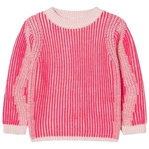 Billieblush Girls Jumpers and knitwear Pink Neon Pink Ribbed Jumper
