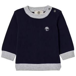 Timberland Boys Jumpers and knitwear Navy Navy Cotton Knit Sweater