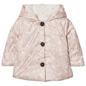 Catimini Girls Coats and jackets Pink Pink Deer Print Coat with Teddy Lining