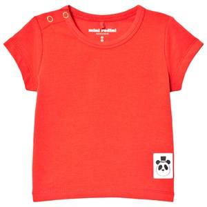 Mini Rodini Unisex Tops Red Basic Tee Red