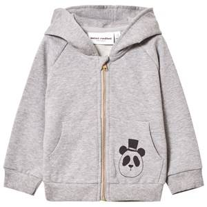 Mini Rodini Unisex Jumpers and knitwear Grey Basic Zip Hoodie Grey Melange