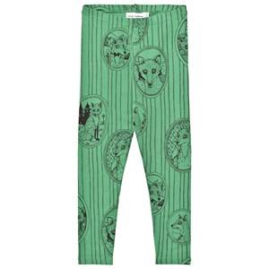 Mini Rodini Unisex Bottoms Green Fox Family Leggings Green