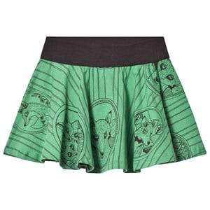Mini Rodini Girls Skirts Green Fox Family Skirt Green