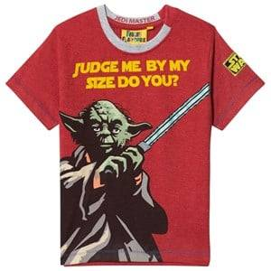 Fabric Flavours Unisex Tops Red Red T-shirt Yoda