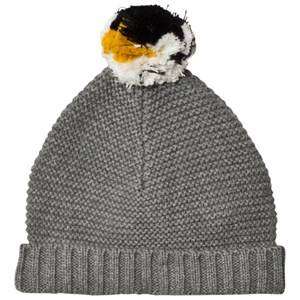Stella McCartney Kids Unisex Headwear Grey Penguin Pom Pom Knit Hat