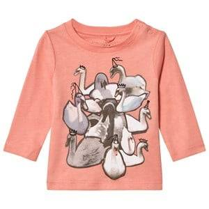 Stella McCartney Kids Girls Tops Pink Pink Swans Print Georgie Tee