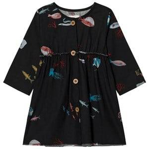 Bobo Choses Girls Dresses Black Deep Sea Baby Princess Dress