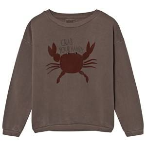 Bobo Choses Unisex Jumpers and knitwear Brown Sweatshirt Crab Your Hands